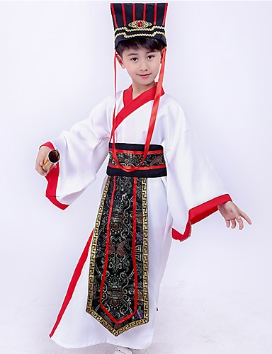 05fa7ce9d Dance Costumes Hanfu Boys' Performance Spandex Split Joint Long Sleeve Dress  / Waist Accessory