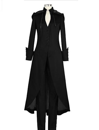 billige Leker og hobbyer-Plague Doctor Vintage Inspireret Steampunk Jakke Frock Coat Herre Dame Kostume Svart / Lilla / Mørkegrønn Vintage Cosplay Langermet / Frakk / Frakk