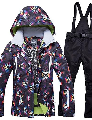 12003a5fd9c5 Χαμηλού Κόστους Ski  amp  Snowboard-RIVIYELE Γυναικεία Μπουφάν και παντελόνι  για σκι Αδιάβροχη Αντιανεμικό