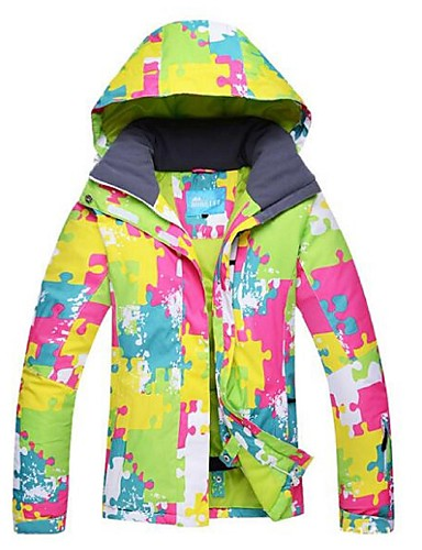 e52f49da475f Γυναικεία Μπουφάν για σκι Αντιανεμικό Αδιάβροχο Ζεστό Χειμερινά Αθήματα  Πολυεστέρας Χειμωνιάτικα μπουφάν Μπολύζες Ενδυμασία σκι   Χειμώνας