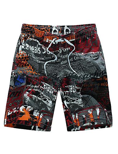 abordables Escapade de Plage-Homme Plage / Tropical Grandes Tailles Plage Ample / Short Pantalon Mosaïque / Imprimé Coton Bleu Rouge XXXXL XXXXXL XXXXXXL / Eté