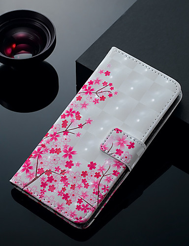 Θήκη Za Apple iPhone XS / iPhone XR / iPhone XS Max Utor za kartice / sa stalkom / Zaokret Korice Cvijet Tvrdo PU koža