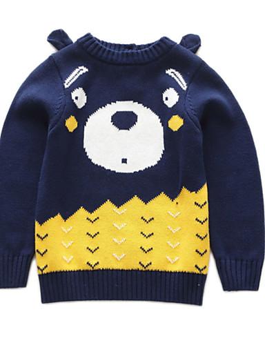 Dijete koje je tek prohodalo Dječaci Aktivan Dnevno Geometrijski oblici Color block Dugih rukava Regularna Džemper i kardigan Plava
