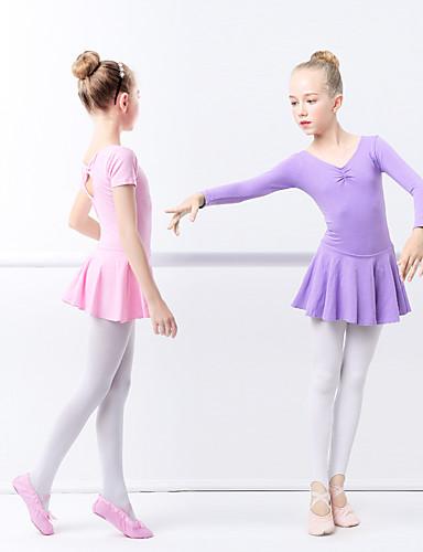 9a815483dcf Μπαλέτο Φορέματα Κοριτσίστικα Εκπαίδευση / Επίδοση Ελαστίνη / Λίκρα Πλισέ /  Κυματοειδές Μακρυμάνικο Φόρεμα