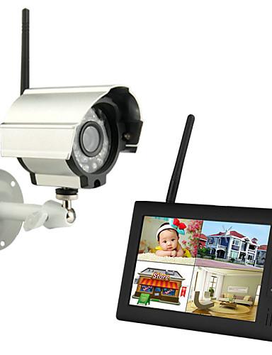 """povoljno Zaštita i sigurnost-bežični 4ch quad dvr 1 kamere pal 628x582 ntsc 510x492 sa 7 """"800x480 tft-lcd monitorom kućni sigurnosni sustav pal ntsc ugrađen u mikrofon"""