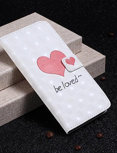 Θήκη Za Samsung Galaxy S9 / S9 Plus / S8 Plus Novčanik / Utor za kartice / sa stalkom Korice Srce Tvrdo PU koža