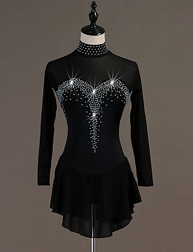 f739dcb87 Figure Skating Dress Women's Girls' Ice Skating Dress Black Spandex Stretch  Yarn High Elasticity Skating Wear Quick Dry Anatomic Design Handmade  Classic ...
