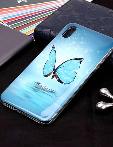 Θήκη Za Apple iPhone XS / iPhone XR / iPhone XS Max Sjaji u mraku / Uzorak Stražnja maska Rukav leptir Mekano TPU