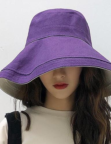 abordables Sombreros de mujer-Mujer Gorro / Sombrero Fedora / Sombrero para el sol - Básico Un Color / Estampado