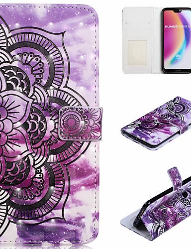 Θήκη Za Huawei Huawei P20 Pro / Huawei P20 lite / P10 Lite Novčanik / Utor za kartice / sa stalkom Korice Mandala Tvrdo PU koža