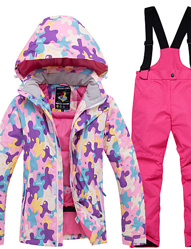 6d8920cf999b ARCTIC QUEEN Boys' Girls' Ski Jacket with Pants Windproof Rain-Proof Warm Skiing  Snowboarding Winter Sports POLY Eco-friendly Polyester Tracksuit Bib Pants  ...