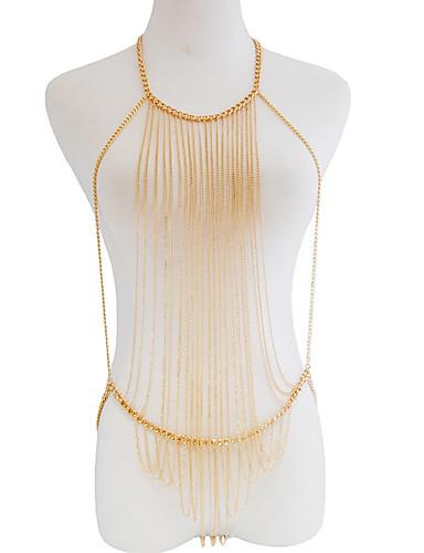 رخيصةأون مجوهرات الموضة-كل الفصول ذهبي فضي لون سادة نسائي / سبيكة