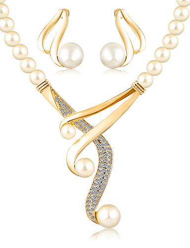 abordables Joyas de Moda-Mujer Perla Conjuntos de Joyería - Europeo / Moda