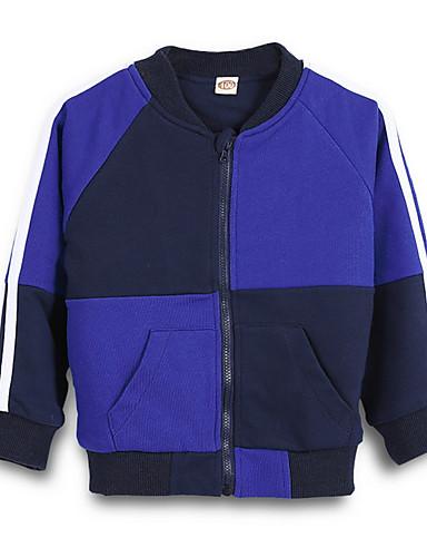 Bambino Da Ragazza Essenziale Quotidiano Tinta Unita Manica Lunga Standard Cotone - Poliestere Giubbino E Cappotto Blu #07097843 Bello A Colori