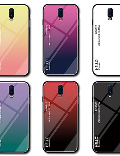 Hülle Für OnePlus OnePlus 6 / One Plus 6T Spiegel Rückseite Farbverläufe Hart Gehärtetes Glas für OnePlus 6 / One Plus 6T / One Plus 5