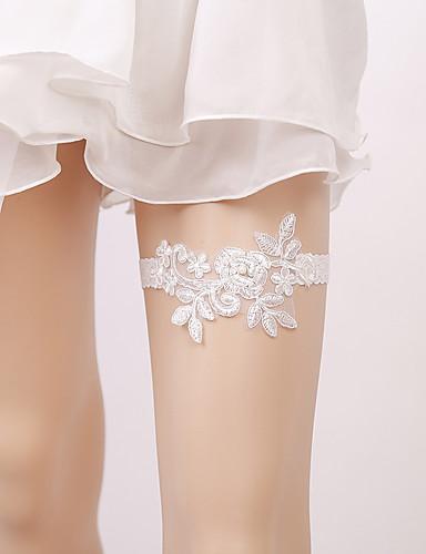 Csipke Menyasszonyi Wedding Garter Val vel Gyöngydíszítés Harisnykötők  Esküvő   Parti a357efce5b