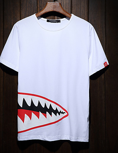 cheap Men's Tees & Tank Tops-Men's Basic T-shirt - Solid Colored / Geometric