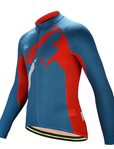 b21d2dcf1 cheji® Men s Long Sleeve Cycling Jersey - Red+Blue Bike Top Sports Jacquard  Mountain Bike MTB Road Bike Cycling Clothing Apparel   Micro-elastic