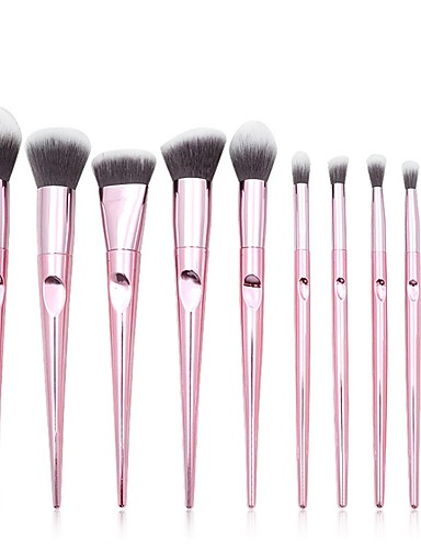71bce7c0803 Professional Makeup Brushes 10pcs Professional New Design Full Coverage  Synthetic Color Gradient Wooden / Bamboo for Eyeshadow Eyeliner Concealer &  Base ...