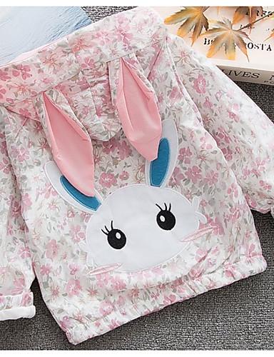 Μωρό Κοριτσίστικα Βασικό Φλοράλ Μακρυμάνικο Κανονικό Πολυεστέρας Κοστούμι & Σακάκι Ανθισμένο Ροζ