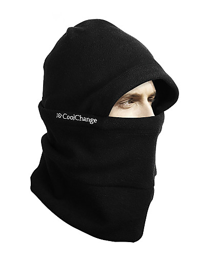 cheap Cycling Clothing-CoolChange Balaclava Thermal / Warm Breathable Camping & Hiking Warm Dust Proof Bike / Cycling Black Wool Fleece Winter for Unisex Adults' Camping / Hiking Motobike / Motorcycle Bike / Cycling Solid