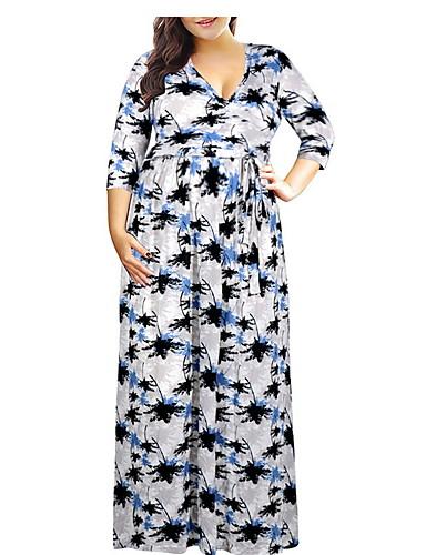 billige Kjoler-kvinners maxi slank en linje kjole lilla hvit rød xxxl xxxxl xxxxxl xxxxxxl