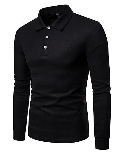 voordelige Herenpolo's-Heren Overhemd Effen Overhemdkraag Rood