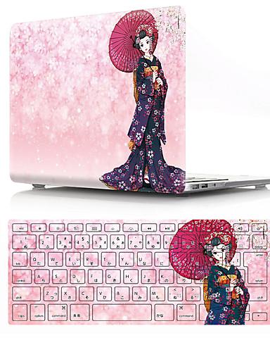 Yhdistetty suojaus Piirretty PVC varten MacBook Air 13-tuumainen / Uusi MacBook Pro 13