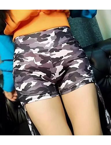 2be8bc5803b Women's Military Daily Chinos / Shorts Pants - Camo / Camouflage Print High  Waist Green Gray