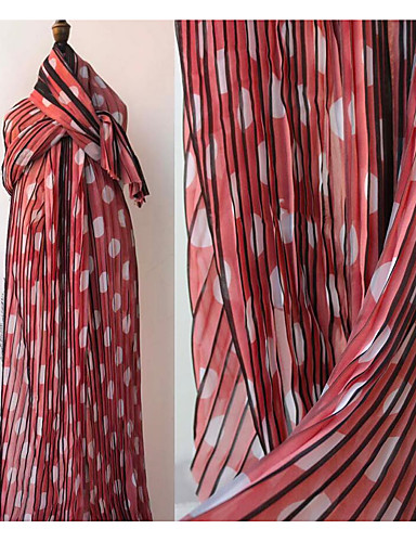 povoljno Wedding Dress Fabric-Chiffon Geometrijski oblici Uzorak 145 cm širina tkanina za Posebne prilike prodan od 0.5m