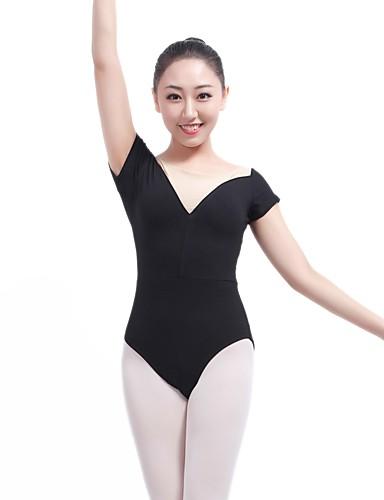 preiswerte Ballettbekleidung-Ballett Turnanzug Damen Training / Leistung Baumwolle / Elastan / Lycra Kombination Kurzarm Gymnastikanzug / Einteiler
