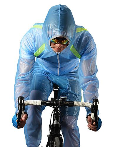 abordables Chaquetas de Ciclismo-ROCKBROS Hombre Mujer Chaqueta de Ciclismo con Pantalones Bicicleta Paravientos Impermeable Trajes de Yoga Resistente al Viento Transpirable Secado rápido Deportes Poliéster Blanco / Verde / Azul