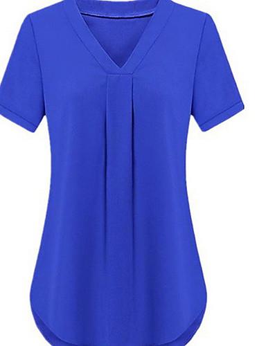 povoljno Majica-Veći konfekcijski brojevi Majica Žene Jednobojni Slim Crn