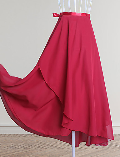 preiswerte Ballettbekleidung-Ballett Unten Damen Training / Leistung Chiffon Horizontal gerüscht Hoch Röcke