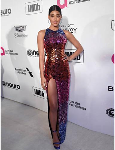 Ίσια Γραμμή Με Κόσμημα Μακρύ Με πούλιες Επίσημο Βραδινό Φόρεμα με Πούλιες  με TS Couture® 8999dfdb14b