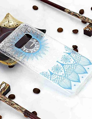 Etui Käyttötarkoitus Samsung Galaxy Galaxy S10 / Galaxy S10 Plus / Galaxy S10 E Läpinäkyvä / Kuvio Takakuori Kukka Pehmeä TPU