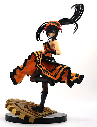 halpa Cosplay ja rooliasut-Anime Toimintahahmot Innoittamana Date A Live Kurumi Tokisaki PVC 22 cm CM Malli lelut Doll Toy