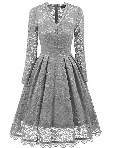 7f1698d35330 Women s Basic Elegant Swing Dress - Solid Colored Wine Light Blue Khaki L  XL XXL