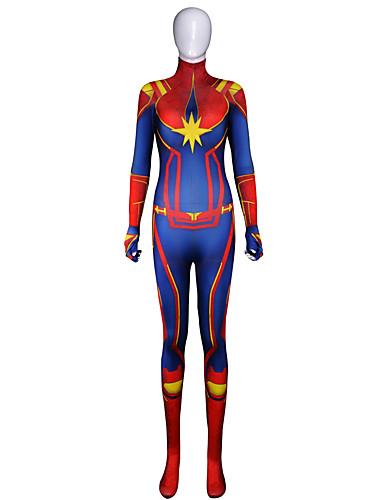 Zentai öltözékek The Avengers Felnőttek Szerepjáték Jelmezek Mindszentek napja Rubin Nyomtatás Elasztán Lycra ® Női Mindszentek napja Farsang Álarcos mulatság
