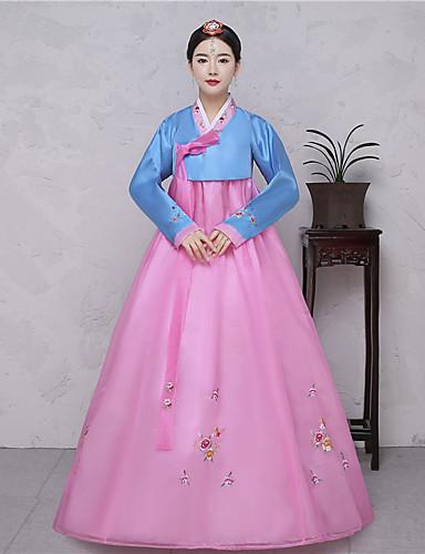 d0fac8b0cd88 Hanbok κορίτσι Ενηλίκων Γυναικεία Ασιατικό Παραδοσιακά Κορεάτικα Jeogori  Χάνκοκ Magoja Για Επίδοση Πάρτι Αρραβώνων Πάρτι πριν το Γάμο Μπροκάρ Μακρύ  Μήκος ...