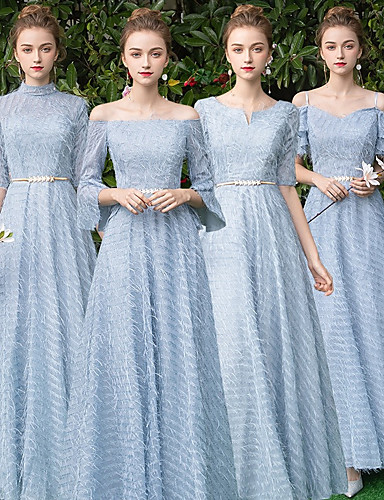 2fef445778e cheap Bridesmaid Dresses-A-Line V Neck Floor Length Lace Bridesmaid Dress  with by