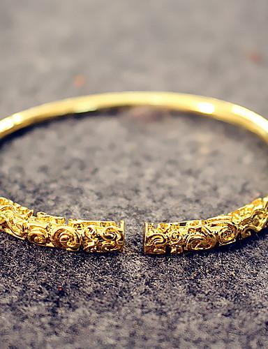 お買い得  Men's Trendy Jewelry-男性用 / 女性用 ベーシック ソリッド ブレスレット