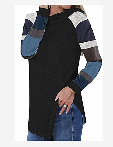 billige Dametopper-T-skjorte Dame - Ensfarget / Ruter Svart