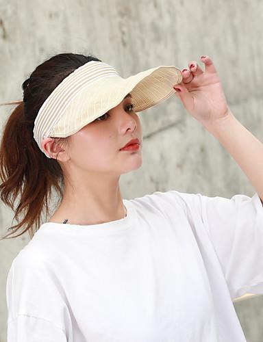 Per donna Attivo Essenziale stile sveglio Cappello da sole-Poliestere Tinta unita Per tutte le stagioni Beige Blu marino Cachi