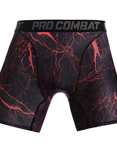 cheap Cycling Clothing-Men's Compression Shorts Compression Base layer Underwear Shorts Bottoms Lightweight Breathable Quick Dry Soft Sweat-wicking Blue / White Camouflage Burgundy Road Bike Mountain Bike MTB Basketball