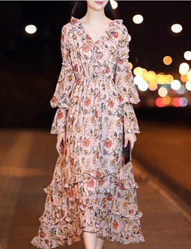 963ddefe18b3 Dámské Elegantní Swing Šaty - Květinový Maxi