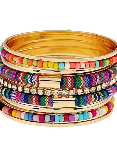 abordables Bijoux à la Mode-Femme Alliage Soirée Rayé / bracelet