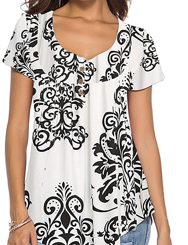 75f2717f4afa Γυναικεία T-shirt Φλοράλ Στάμπα