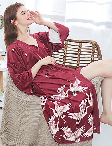 Per Donna Completi Indumenti Da Notte - Con Fiocco - Lacci - Con Stampe Fantasia Floreale #07298966 Domanda Che Supera L'Offerta