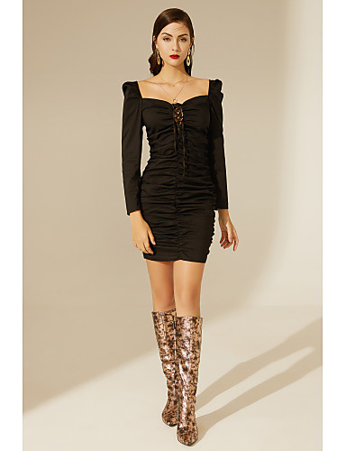 cheap TS@ Clothing-TS@ Women's Bodycon Dress Black